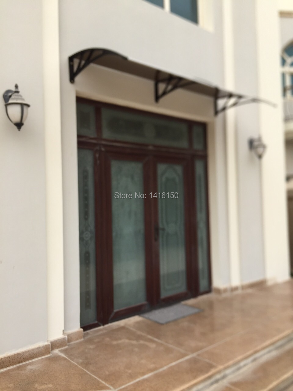 DS120200 P120x200cmDepth 120cmWidth 200cmEntry Door Side Window Polycarbonate Awning With Engineering Plastic Bracket In Awnings From Home Garden