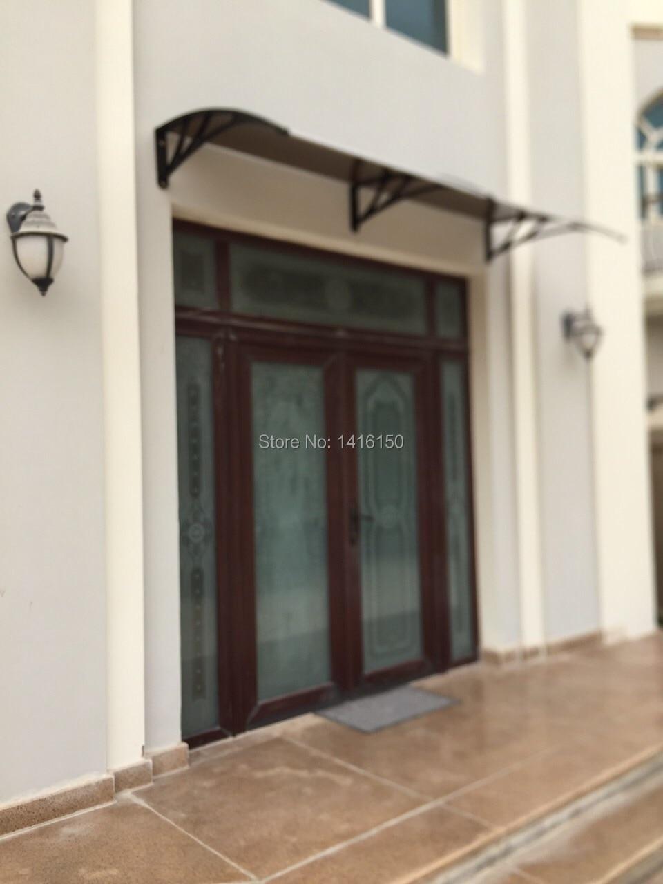 DS120200 P,120x200cm,Depth 120cm,Width 200cm,Entry Door Side Door Window  Polycarbonate Awning With Engineering Plastic Bracket In Awnings From Home  U0026 Garden ...