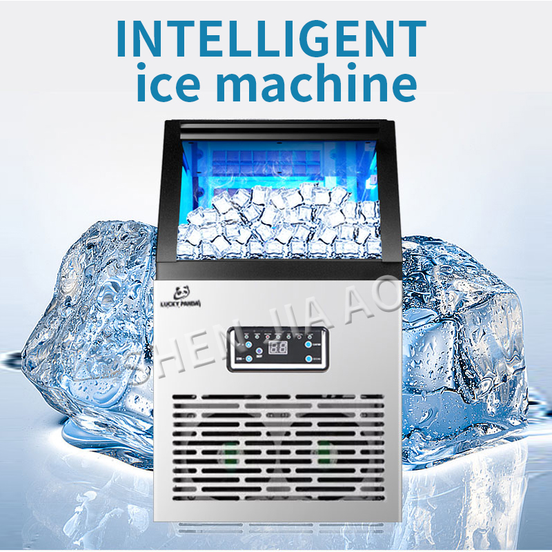 Ice Makers SK-60FF Ice Machine Commercial Tea Shop Small Household Intelligent Automatic Ice Cube Making Machine 60kg/days