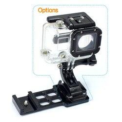 6 en 1 CNC aluminio 20mm Kit de montaje de carril lateral adaptador de montaje de brazo con tornillos llave para Gopro Xiaoyi Gitup accesorio para Cámara de Acción