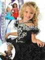 2016 Crianças Pageant Vestidos Das Meninas Vestido de Festa Halter Off Ombro Pedrinhas Flor Vestidos Da Menina