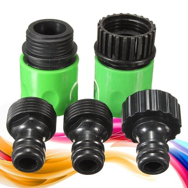 Superieur 5pcs Complete Garden Hose Quick Connect Set Kit Plastic Hose Tap Adapter  Connector Irrigation Garden Tools
