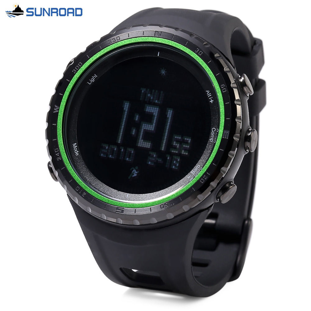 0a0542390 SUNROAD FR801B Professional Hiking Digital Sports Watch Altimeter Barometer  Pedometer Thermometer Compass Wristwatch-in Digital Watches from Watches on  ...