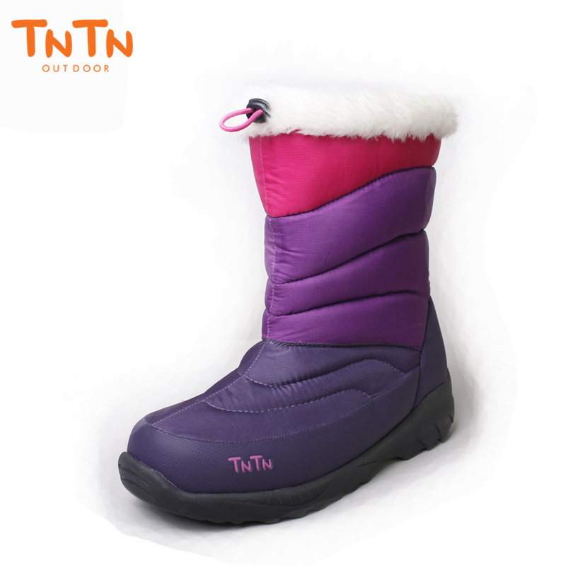 TNTN 2018 outdoor winter boots feathers warm cashmere waterproof skid thick snow boots cotton boots Women