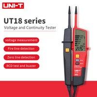 UNI T UT18A/UT18B/UT18C/UT18D Voltage and Continuity Testers; waterproof pencil, RCD Test/Polarity Detection