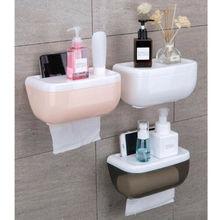 3Colors Toilet Paper Roll Holder Bathroom Tissue Box Dispenser Waterproof Easy Install