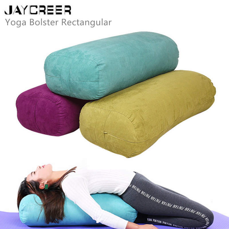 Jaycree, подушка для йоги, прямоугольный моющийся чехол из органического хлопка, подушка для йоги, подушка для йоги, 67x27x17 см
