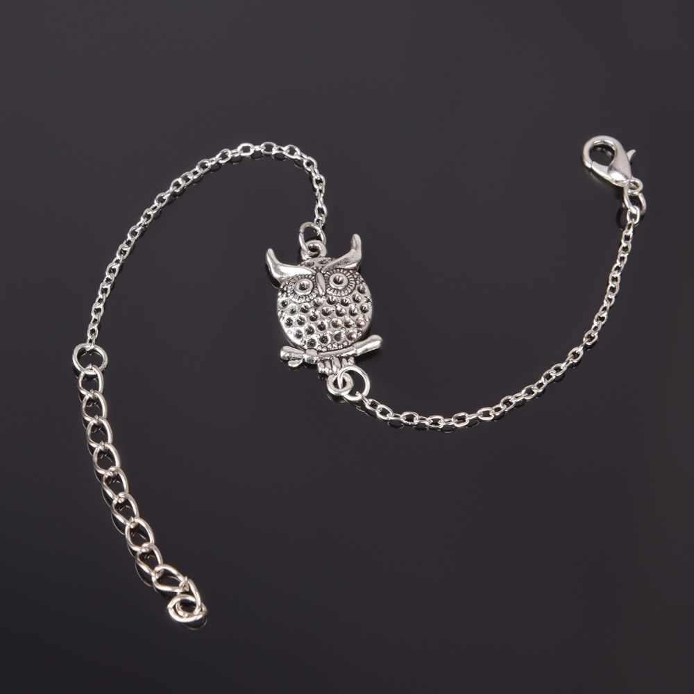 1 Pcs Fashion Round Liontin Pesona Hewan Gelang Pasangan Gelang Perhiasan Persahabatan Hadiah Gratis Pengiriman Ns210