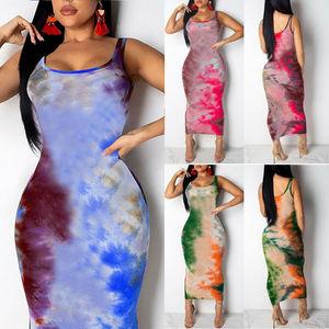 Women Graffiti Slim Fit Dress Ladies Girls Boho Long Maxi Dresses Evening Party Beach Bodycon Dresses Sundress(China)