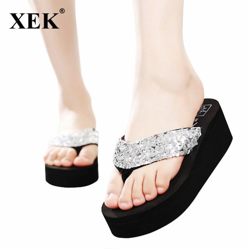 Summer Shoes Women Platform Sandals Wedge Flip Flops Sapato Feminino High Heel slippers Sandalias Plataforma Chanclas JDD80 все цены