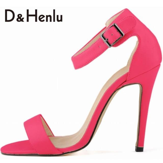 D H Plus Size35-42 Brand Women s Pumps Summer Classic Elegant High Heels  Sandals 2832c87856b5