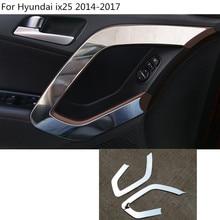 car styling cover stick trim door inner handle bowl armrest handrail frame panel For Hyundai IX25 2014 2015 2016 2017