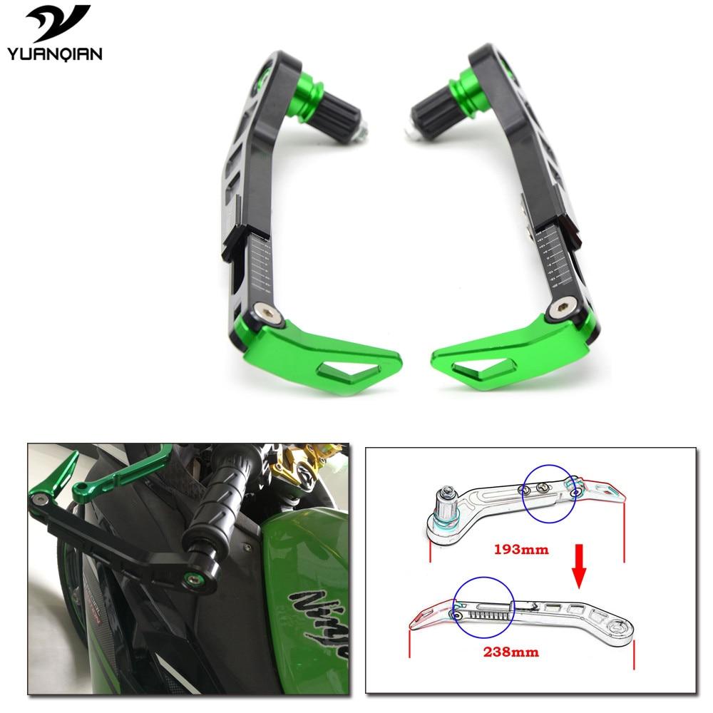 Система мотоцикл помощью proguard тормозные рычаги сцепления защиты гвардии для Kawasaki Z750R СЗР 400 250 1100 ZR7 Versys запросу zx6r ZX9R ZX12R Z900