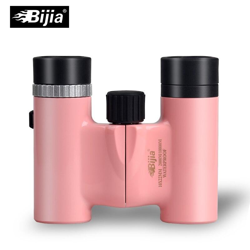 BIJIA 10x22 mini prismáticos de bolsillo HD prismáticos telescopio para concierto deportes 4 colores