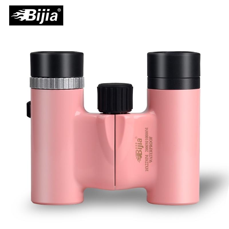 BIJIA 10x22 mini pocket binoculars HD opera glasses telescope for concert sports 4 colours gold 3x golden luxury lady opera glasses opera binoculars gift theater binoculars with handle do016