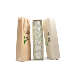 все цены на 6Pcs Hand Painted White Porcelain TeaCups Hand Made Chinese Tea Cup Kung Fu Tea Set High Quality Ceramic Tea Bowl  онлайн