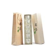 PINNY 6Pcs Hand Painted White Porcelain TeaCups Hand Made Chinese Tea Cup Kung Fu Tea Set High Quality Ceramic Tea Bowl