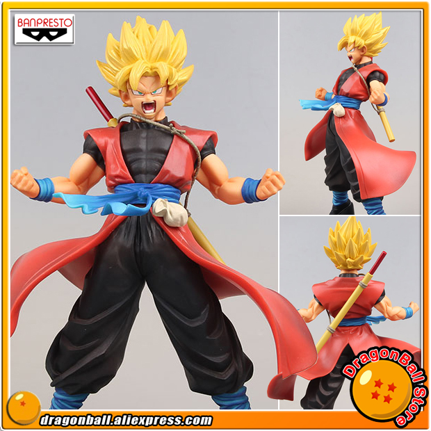 Anime Super Dragon Ball Heroes Original Banpresto DXF 7th Anniversary Vol.1 Collection Figure - Super Saiyan Son Gokou Xeno dragon ball dxf the super warriors vol 3 super saiyan rose gokou black and vegetto pvc figure collectible model toys kt4201