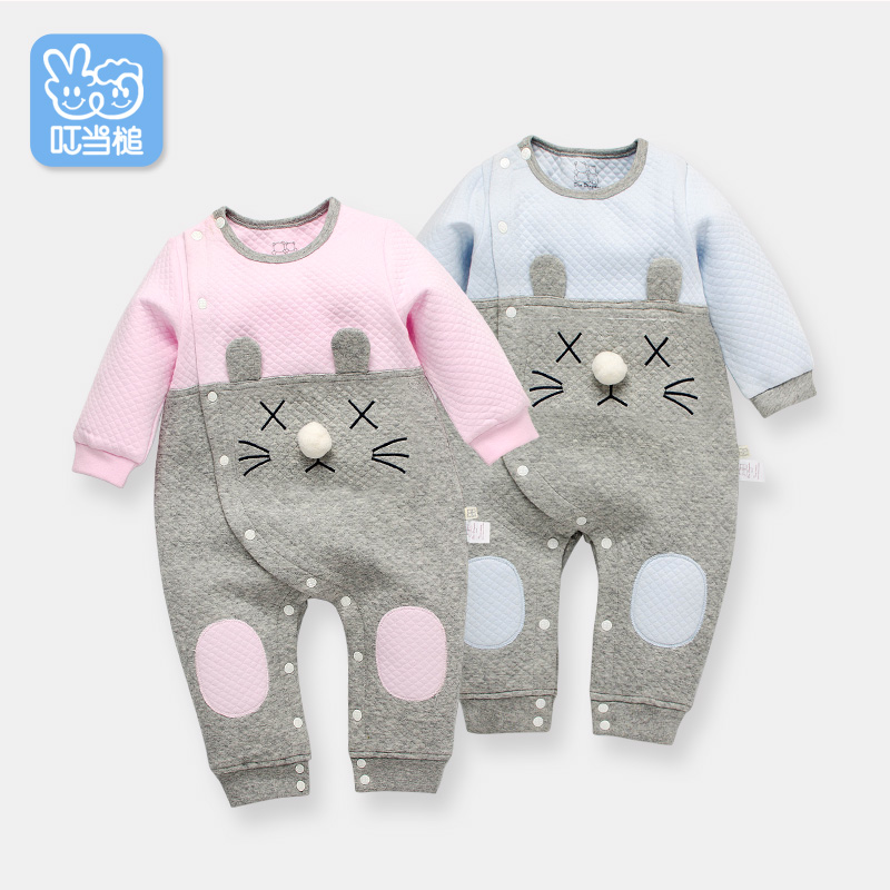 Dinstry Baby clothes spring autumn girl  jumpsuit newborn cartoon layette baby underwear  baby suit dinstry newborn baby girl cotton romper jumpsuit long sleeved spring and autumn pink infant clothing clothes