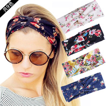2017 New Fashion Women Elastic Turban Twisted Knotted Headband Bohemian Ethnic Floral Wide Stretch Girl Hair Accessories