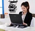Portátil Notebook PC de Escritorio Portátil Ajustable de Mesa Con Una Función de 2 Ventilador + Ratón Almohadilla Refrigerador Portátil Plegable Soporte Para Sofá cama