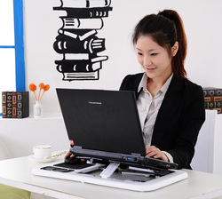 Portable adjustable laptop notebook pc desk table with built in 2 cooling fan mouse pad folding.jpg 250x250
