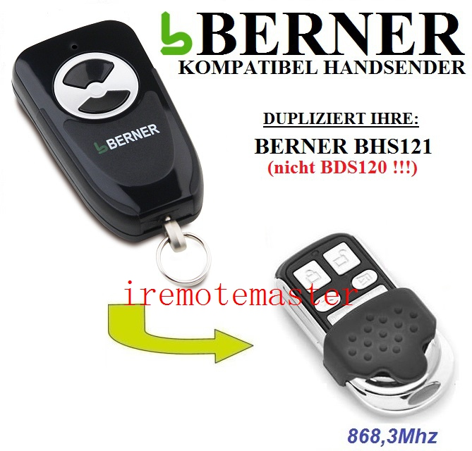 Best sale! BERNER BHS121 transmitter replacement remote control 868.3MHZBest sale! BERNER BHS121 transmitter replacement remote control 868.3MHZ