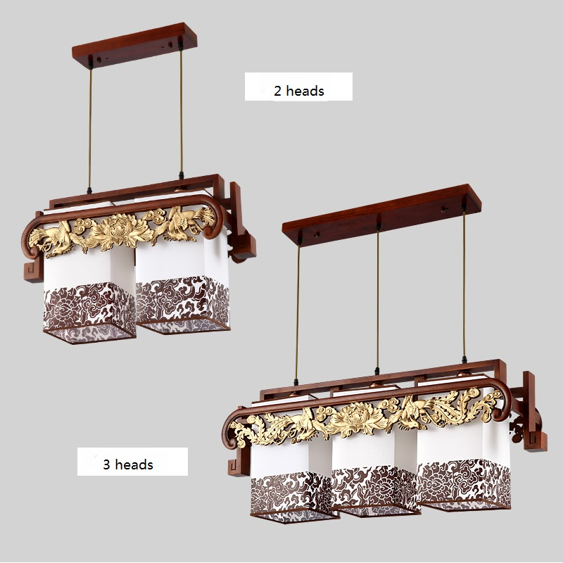 Chinese style Wooden pendant lights Retro living room restaurant garden hall home lighting simple antique pendant lamps ZA ZS27