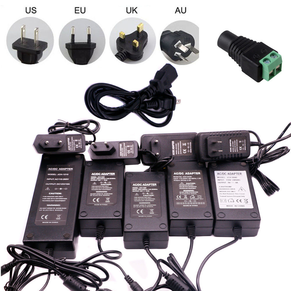 Power Adapter Supply Charger DC 5V/9V/12V/<font><b>24V</b></font> 1A/2A/3A/5A/6A <font><b>Adaptor</b></font> <font><b>AC</b></font> 100-240V To 5V/12/V Universal Adapter EU/US/UK/AU Plug image