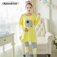 Speedline conjunto de pijamas para mujeres embarazadas maternidad Lactancia pijama de dormir Lactancia traje para mujeres lactantes