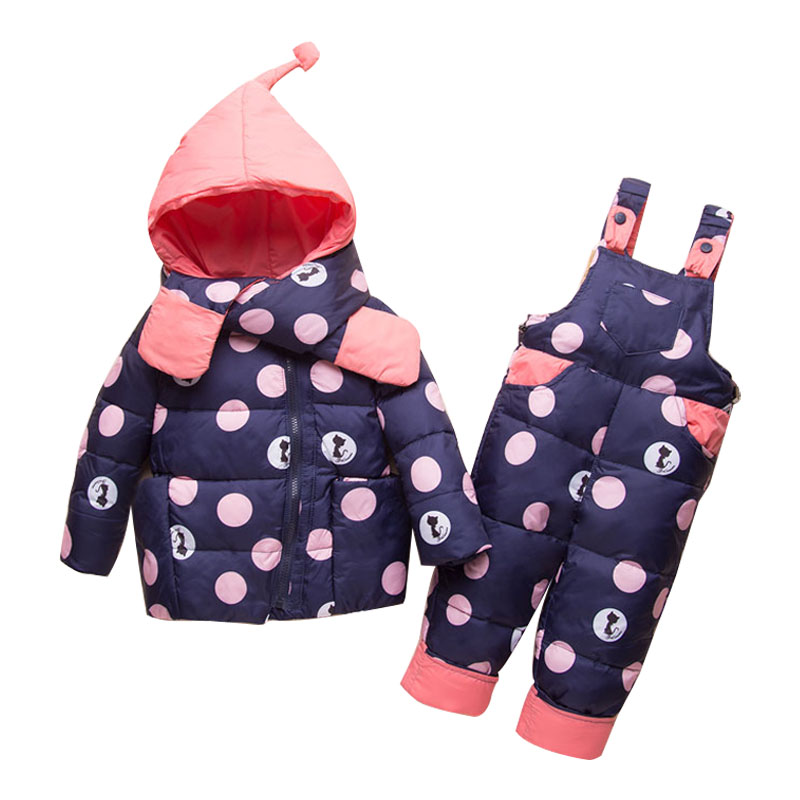 Newest 2018 Winter Baby Girls Clothes Sets Children Down Jackets Kids Snowsuit Warm Baby Ski Suit Down Outerwear Coat+Pants angela&alex winter baby girls clothes sets children down jackets kids snowsuit warm baby ski suit down outerwear coat pants