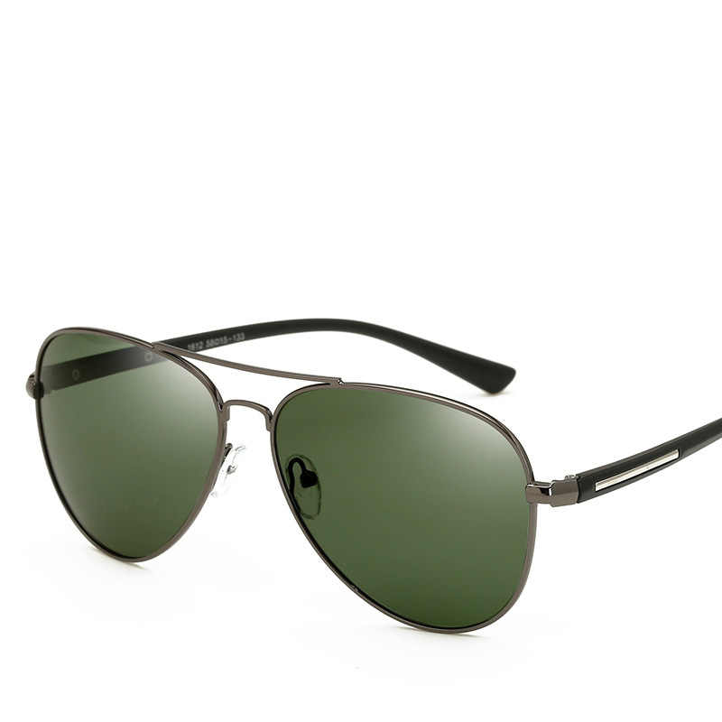 b964358619c cubojue polarized men s sunglasses dark green lens aviation driving sun  glasses for man spring hinge HD