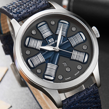 Men Watch Pilot Watch Airplane Engine Engraved Men Big Dial