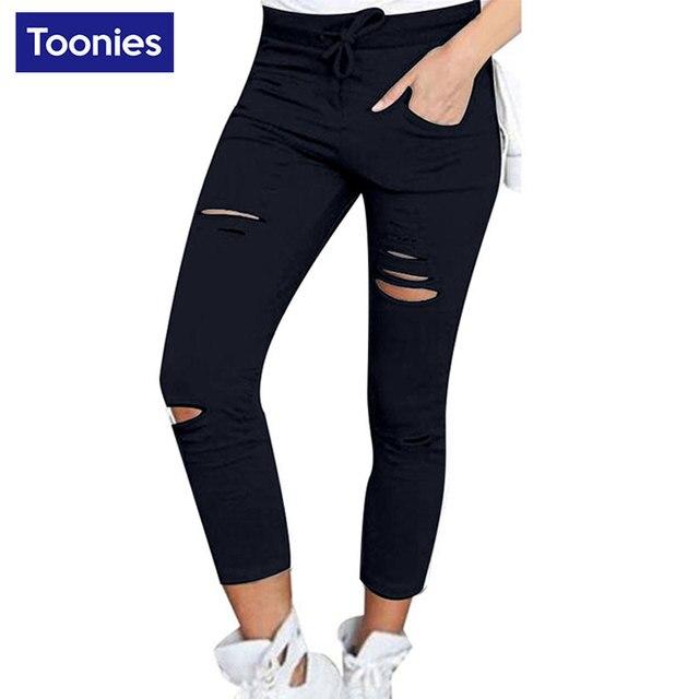 6 Цветов S-4XL Плюс Размер Джинсы Женщина Мода Карандаш Брюки Узкие Брюки Femlae Повседневная Рваные Джинсы для Женщин Pantalon Femme