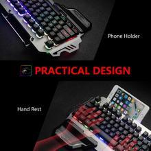 Multilingual Metal Cover Gaming Keyboard