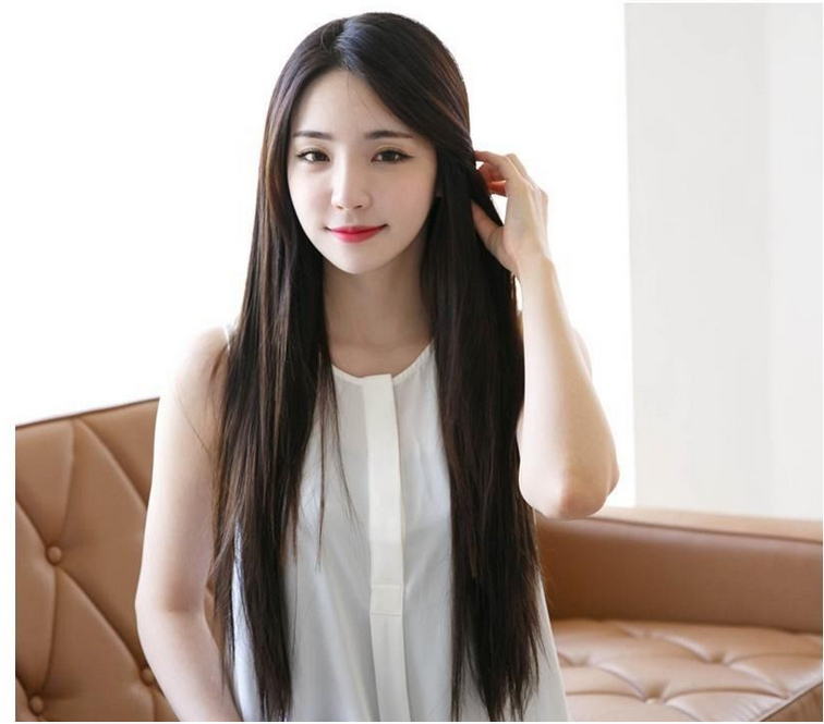 Fashion Sexy Anime Cosplay Wig Natural Black Women Long Straight