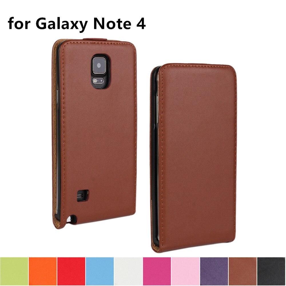 Clamshell funda de teléfono Funda de cuero para Samsung Galaxy Note 4 adsorción magnética hebilla funda flip coevr caso para Samsung N9100