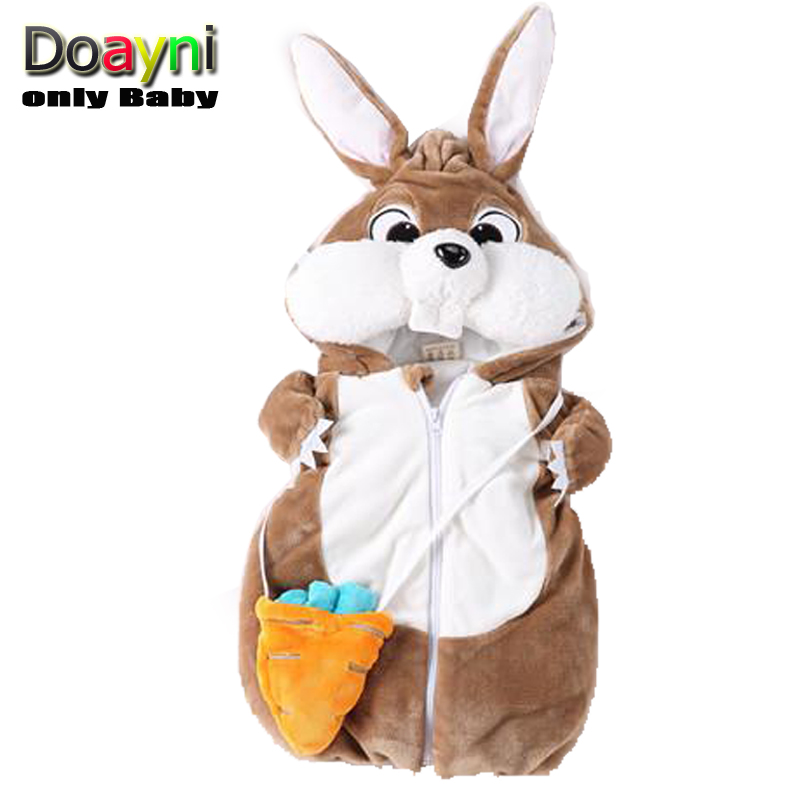 Vest Hooded Novelty Rabbit Infant Baby Winter Velour Cotton Unisex for Thick Warm Plus