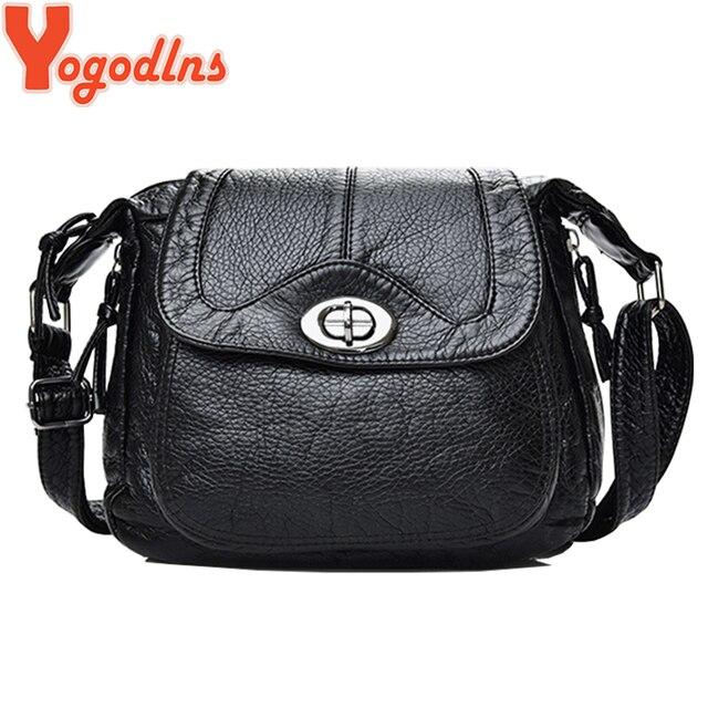 67f0149f57b97 Yogodlns için Yumuşak PU deri çantalar Kadınlar omuz askılı postacı  çantaları çapraz vücut kadın çantası Küçük Moda Çanta