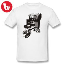 DJ Turntable T-Shirt Men Print Oldskool Records Classic T Shirt Men's Short Sleeve T-Shirts Printed Oversized 5XL 6XL Tee Shirt