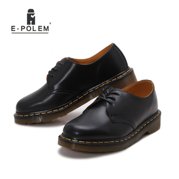 Fashion Men Dress Leather Shoes Oxford Shoes Genuine Cow Leather Flats Unisex Plus Size Black Red Spring Autumn Casual Shoes