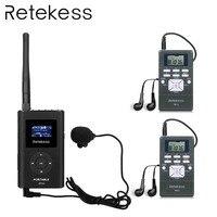 RETEKESS Беспроводная система гида для направляющей встречи перевод 1 fm-передатчик + 2 радиоприемника портативное радио
