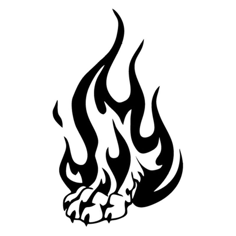 Us 287 39 Offsamochód Stylizacji Tribal Tatuaż Ogień Płomień Wilk łapa Cartoon Vinyl Samochodów Naklejka Grafiki Winylowe Naklejki Jdm W Naklejki