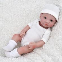 10 inch Lovely Mini Reborn Babies Boy Realistic Lifelike Full Vinyl Handcraft Newborn Baby Doll For Kids NPKDOLL Christmas Gift