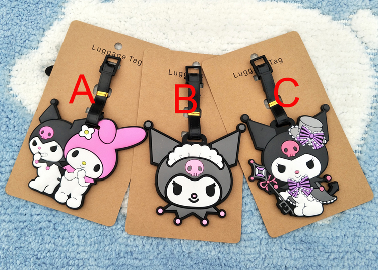 Kuromi Melody Anime Travel Accessories Luggage Tag Suitcase ID Address Portable Tags Holder Baggage Label Gifts New