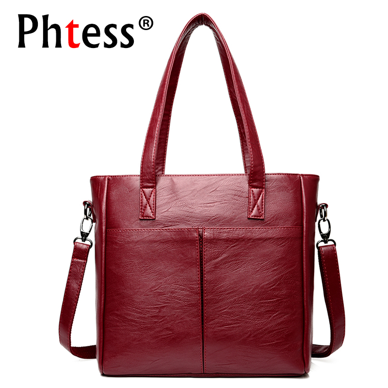 цена на 2018 New Luxury Handbags Women Bags Designer High Quality Female Leather Shoulder Bags Large Capacity Tote Bag Ladies Hand Bag