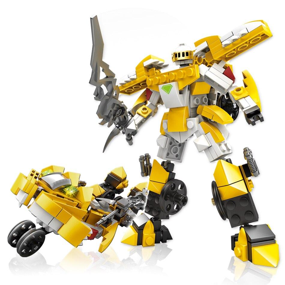 KAZI 2In1 Transformation Robot De Voiture Véhicule Armure Guerrier Armes de Garçon Cadeau Building Block Compatible Legoed Ville Jouets Pour Enfants