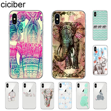 ciciber Elephant Tribal Phone Case For Apple iPhone 7 8 6 6s Plus X XR XS MAX 5S SE Soft TPU Cover For iPhone 11 Pro Max Coque ciciber dragon ball phone case for iphone 11 pro max xr x xs max tempered glass cover cases for iphone 7 8 6 6s plus funda coque