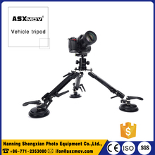 ASXMOV professional aluminum flexible portable car camera vehicle tripod stand w/suction cup mount For dslr camera shooting