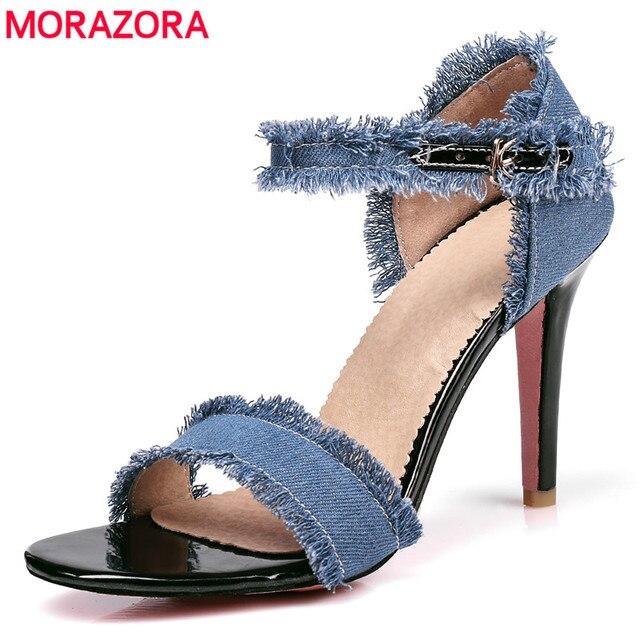 e8a461289577 MORAZORA Plus Size 34-44 nova cor da moda de alta qualidade mulheres  sandálias de